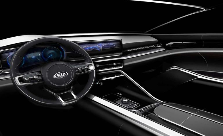 Kia Optima Interior >> Interior Of 2021 Kia Optima Teaser Shows Completely New