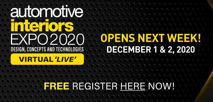 Automotive Interiors Virtual 'Live' launches next week